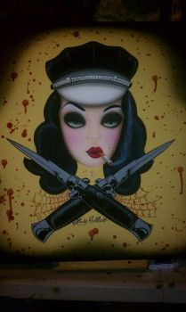 SWITCHBLADE BABE by luckyhellcat