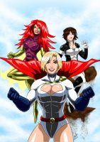 Power Girl, Maxima, Atlee - A Trio by adamantis
