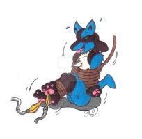 Quick Pic: Lucario Tickled by KnightRayjack