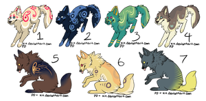 Assorted Canine Designs Batch 11 (CLOSED) by Noctilida