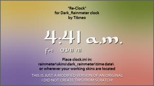 Dark Rainmeter Clock Alternate by Tibneo