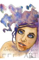 Muse - Watercolor and Ink by indigowarrior