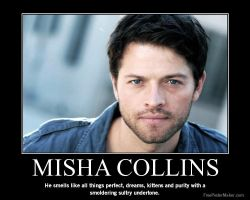 Misha Collins - He smells of Yes by LoveSanji101