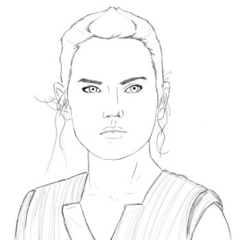 Rey from Star Wars Ep VIII by evertjunior