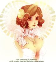 Gaia commish for Vanillaware by bluefeathers