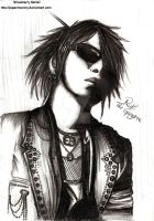 Ruki The Gazette Pencil Sketch by japanmeonly