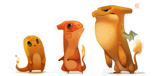 DAY 437. Charmander Line by Cryptid-Creations