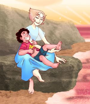 Pearl and Steven by s0alaina