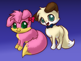 Puppy Couple With Each Other 2 by RadiateZoom