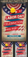 Labor Day Party Flyer Template by Hotpindesigns