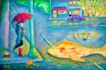 Magic street on the rain by Alleby