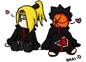 tobi and deidara by akai-bucket