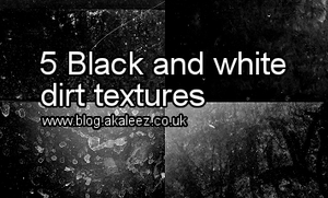 Black and white dirt textures by akaleez88