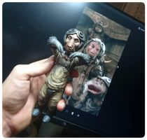 work in progress  Labyrinth the cleaners sculpture by yotaro-sculpts