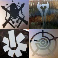Halo vinyl-cut decals by Winobie