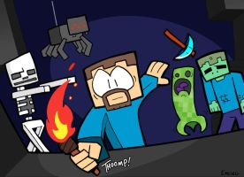 Zombies and Pickaxes by waffledawg