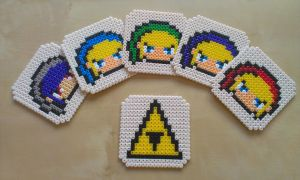 Link coasters by RavenTezea
