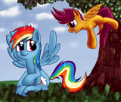 Hey Rainbow, look! by RainbowGambler