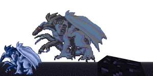 Two-Headed Dragon Pixel Art by DragonDePlatino