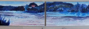 Diptych- river in blue by Ichuuu