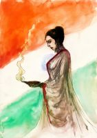Bharat Mata a Fragrance of Eternal Mother India... by BlueMillenium