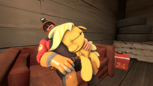 Engineer and AppleJack sleep by FD-Daylight