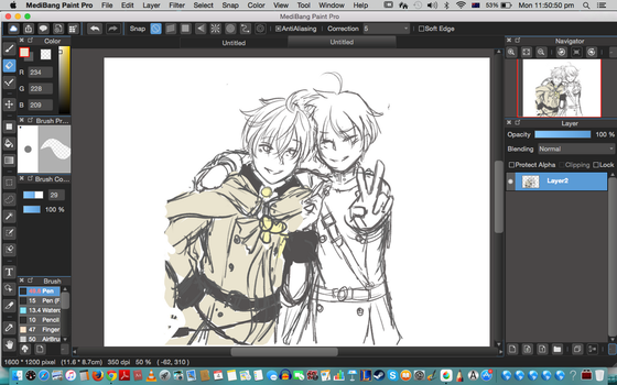 w.i.p Yuu and Mika by Synccantia