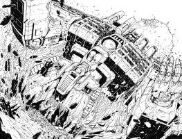 TF Dark Cybertron #1 Pgs 18 to 19 by glovestudios