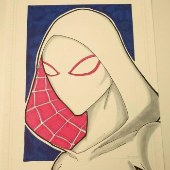 spidergwen colored and finished. by drtidigler