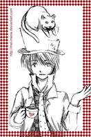 Mad Hatter + Cheshire cat by mel-meow