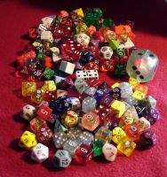 Epic Pile of Gaming Dice by Mistgod