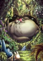 My Neighbor Totoro by Carlotus