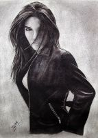 Lisa in charcoal by superchickenn123