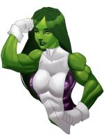 She-Hulk by felle2thou WIP 3 by elee0228