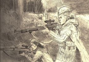 female snipers pencil by JesusFood