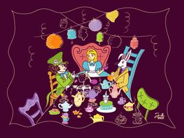 Mad Hatter's Tea Party by LaFoi