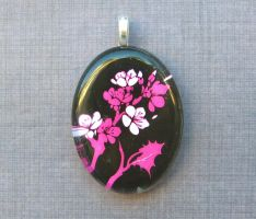 Cherry blossom necklace by AngelElementsEtsy
