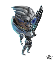 Mass Effect Garrus Chibi by We-Chibi