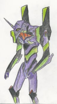 Evangelion Unit-01 Drawing by CounterSkil