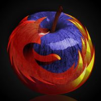 Mozilla Fire Apple by PolizziGraphics