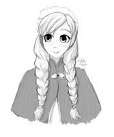 Frozen- Anna sketch by TropicalSnowflake