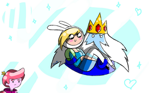 Ice King and Fionna by Xcoqui