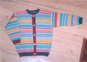 Multi-coloured cardigan by ToveAnita