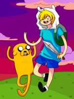Finn And Jake by SpottyHiro