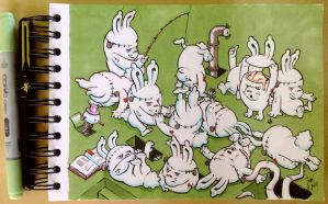 Grumpy Lobotomized Rabbits by JoseAlvesSilva