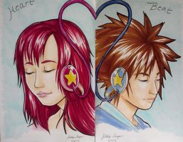 Kingdom Hearts Sketches by Kiniki-Chan