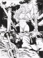conan vs red sonja by amorimcomicart