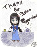 Thanx For 3000 Pageviews by Sorasgirl24