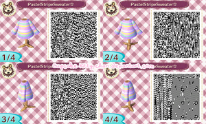QR Code: Pastel Striped Sweater by Sugary-Stardust