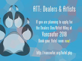 Dealers and Artists: Book your hotel now! by Vancoufur